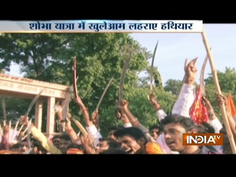 VHP and Bajrang Dal Workers Organise 'Shobha Yatra' Without
