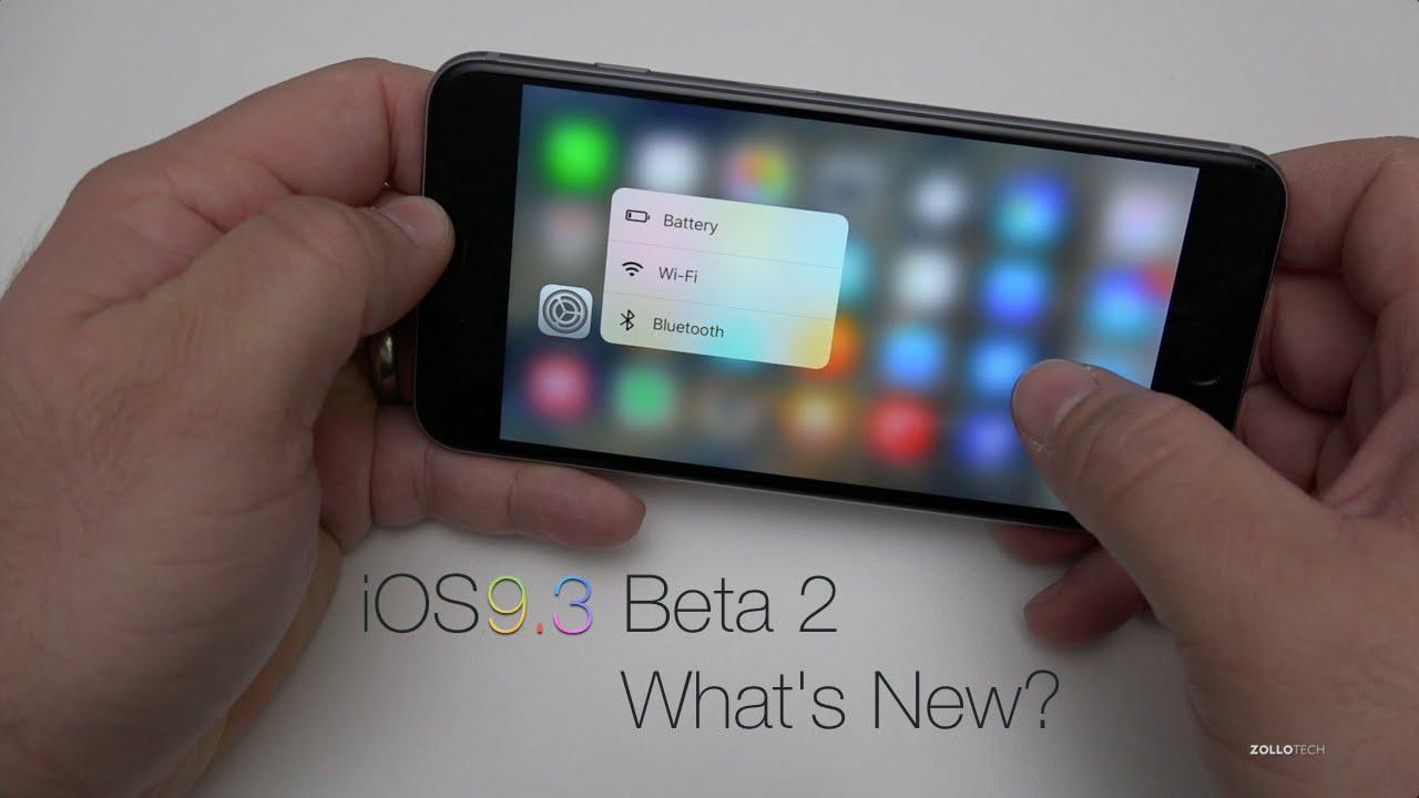 iOS 9.3 Beta 2 - What's New?