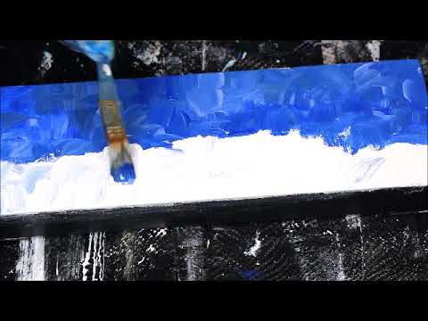 How to Paint Simple Expressionist Landscape – Super Fast and Easy Acrylic Painting Tutorial