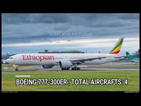 Ethiopian Airlines fleet as of August 2017