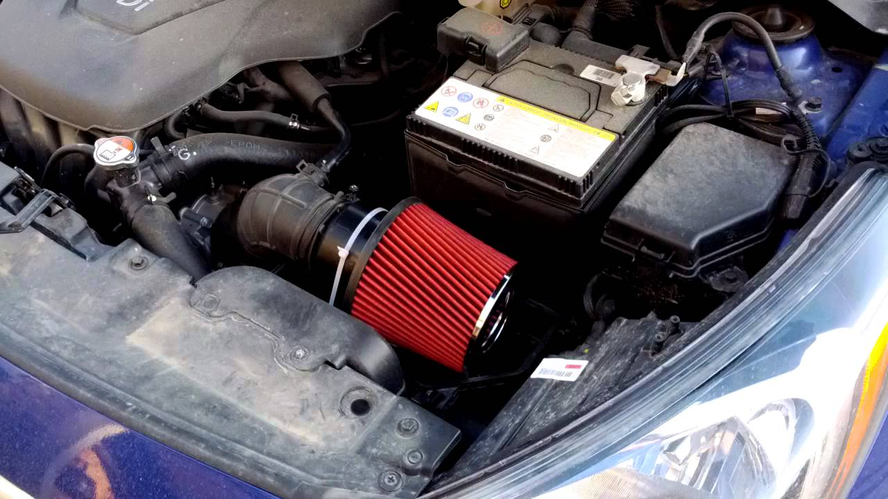 2012 Hyundai Accent Short Ram Ractive Air Filter Youtube