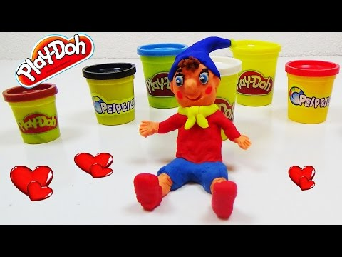 noddy-cartoon-character-3d-modeling!!!-from-play-doh-kidssurprise-special-edition