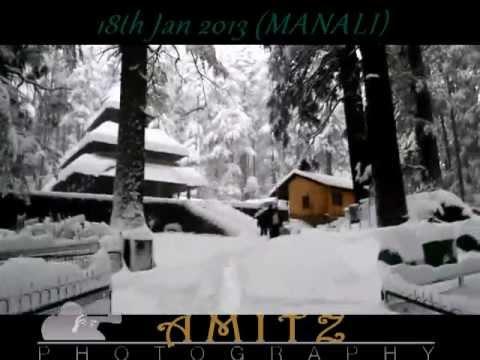 Snowfall in & Around Manali (18th Jan 2013) (Hadimba temple) (Mayflower)