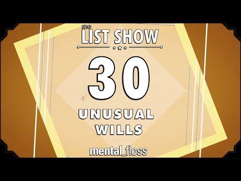 30 Unusual Wills - mental_floss on YouTube (Ep.226)