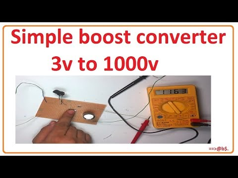 How to make simple boost converter - 3v to 1000v booster