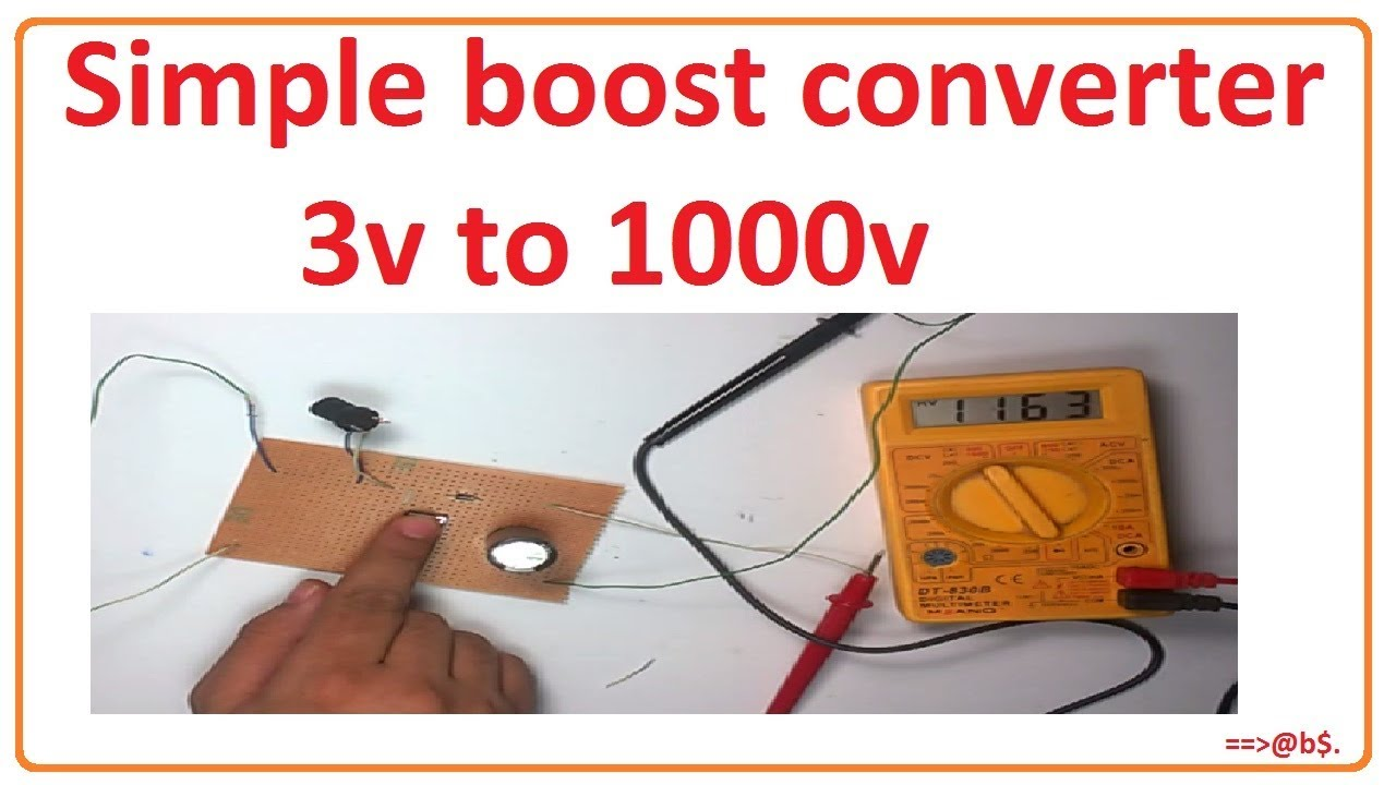 how to make simple boost converter 3v to 1000v booster [ 1280 x 720 Pixel ]