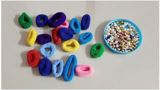 DIY awesome craft out of  waste hair rubber band/Best out of waste/DIY Room decor (147)