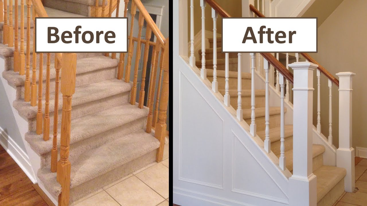 How To Make A Closed Stringer Staircase From An Open Stringer | Fitting Carpet To Open Tread Stairs | Landing | Floating Staircase | Stairway | Hardwood | Prefinished Stair