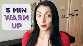 Quick 5 Minute SINGING Warm Up