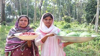 Village Food | Beef And Green Papaya Muslim Style Country Food | Awesome Cook Beef-Papaya By Mother