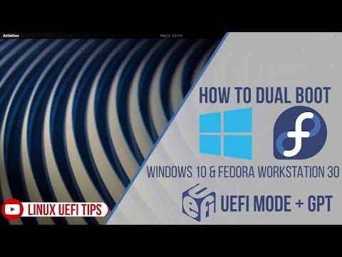 How To Dual Boot Windows 10 & Fedora Workstation 30 UEFI Mode (2019)