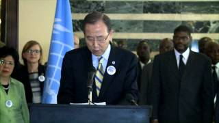 """Ban Ki-moon on fighting Ebola: """"Now is not the time to ease our efforts"""""""