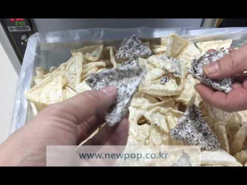 SYP5804T Rice cake machine / Thailand black rice (Chip type Test)