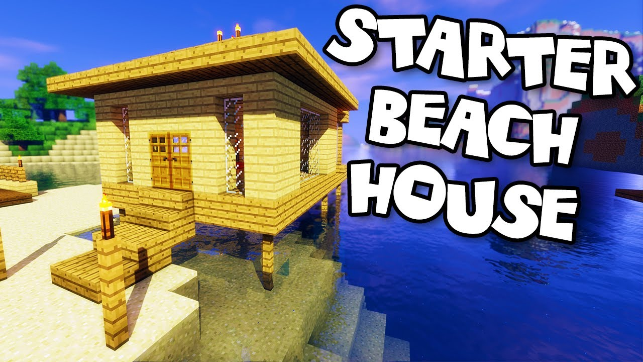 Minecraft tutorials minecraft tutorial 19 how to for How to build a beach house