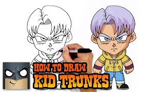 How to Draw Kid Trunks | Dragon Ball Super