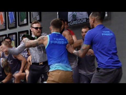 Conor McGregor and Cody Garbrandt nearly ignite a brawl