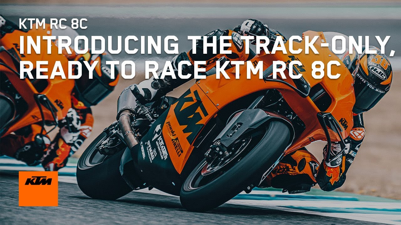Introducing the track-only, READY TO RACE KTM RC 8C | KTM