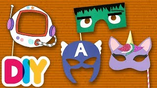 4 Fantastic PAPER MASKS you can do with your kid | Fast-n-Easy | DIY Arts & Crafts for Kids