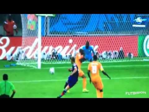 Côte d'Ivoire vs Japan 2-1 2014 FIFA World Cup [14/06/14] All Goals