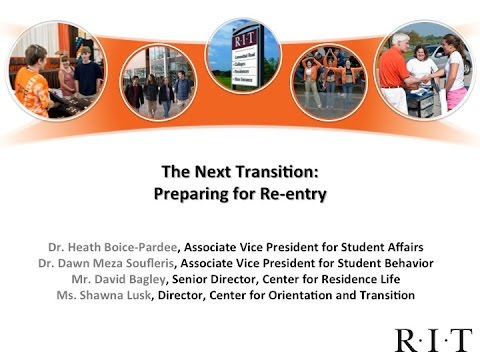The Next Transition: Preparing for Re-entry