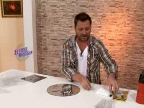 Mart n mu oz bienvenidas tv decora un marco para for Espejos circulares pequenos