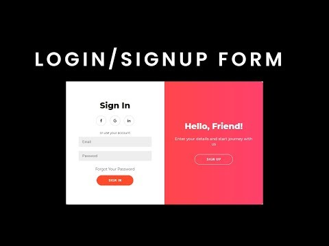 LogIn & SignUp Page In HTML And CSS