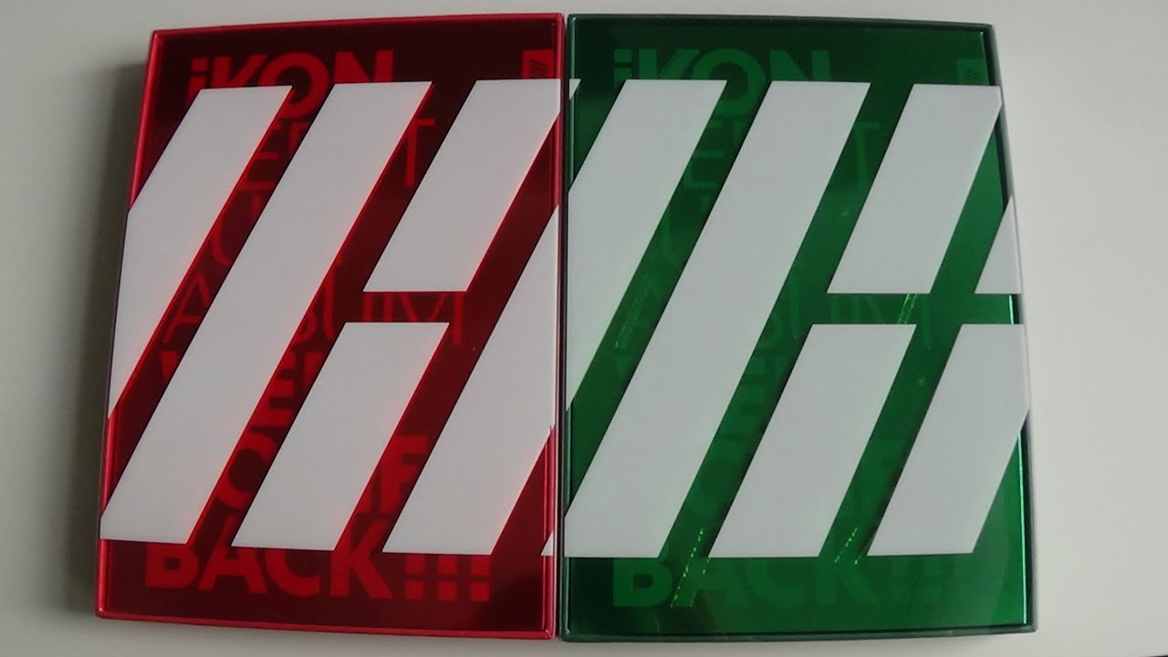 unboxing ikon debut full album welcome back red green version youtube