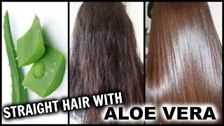 Straighten Hair with Aloe Vera │ Natural Hair Straightening Gel at Home w/ Results │Hair Hack!!