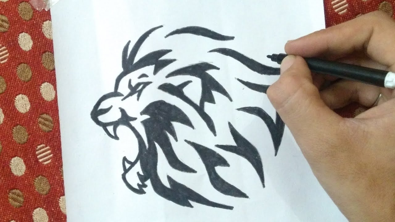 Drawing Lion Tattoo Little Singham Deepak Daharia Arts Youtube Check out our lion king outline selection for the very best in unique or custom, handmade pieces from our digital shops. drawing lion tattoo little singham deepak daharia arts
