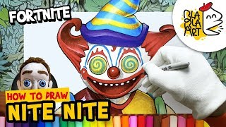 HOW TO DRAW NITE NITE Skin | Fortnite Characters Drawing and Coloring | BLABLA ART