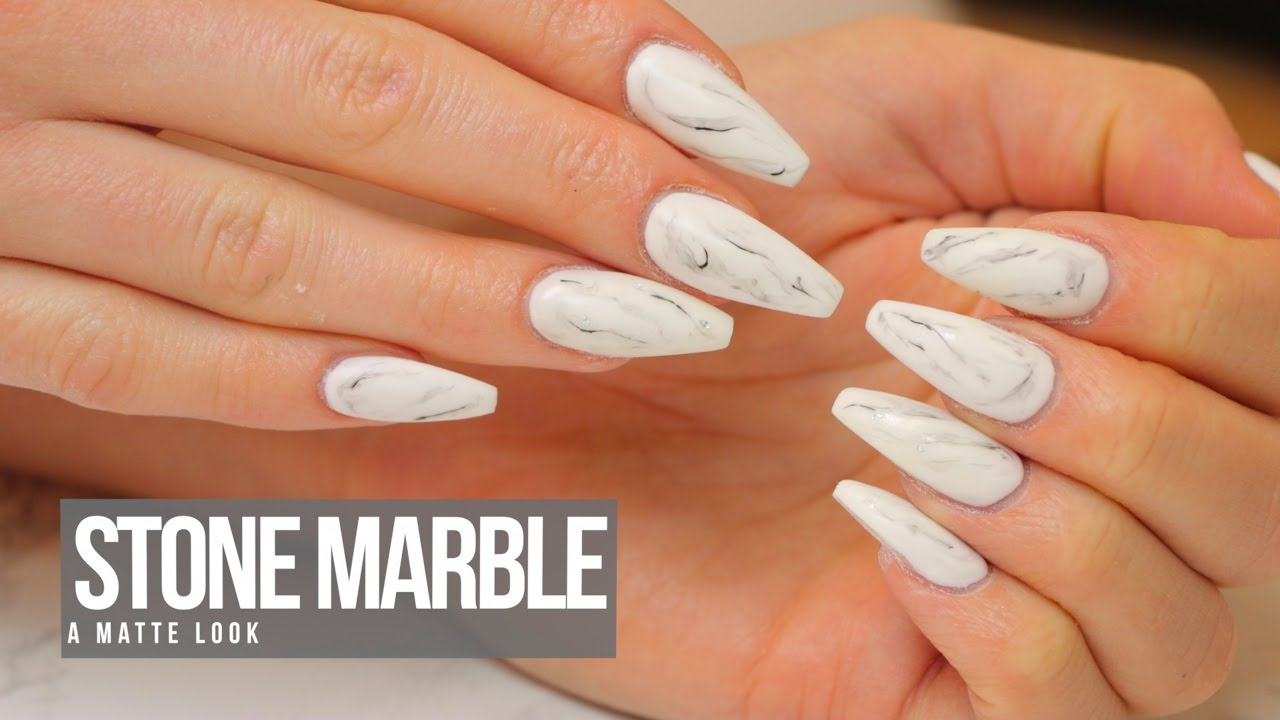 Acrylic Nail Design: Stone Marble - YouTube