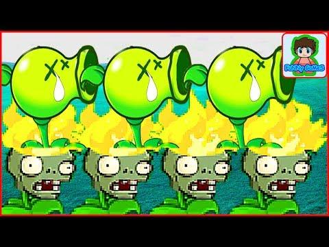 Игра Растение против зомби,  Зомби стали растениями,  - Plants Vs Zombies  Наоборот От Фаника 5