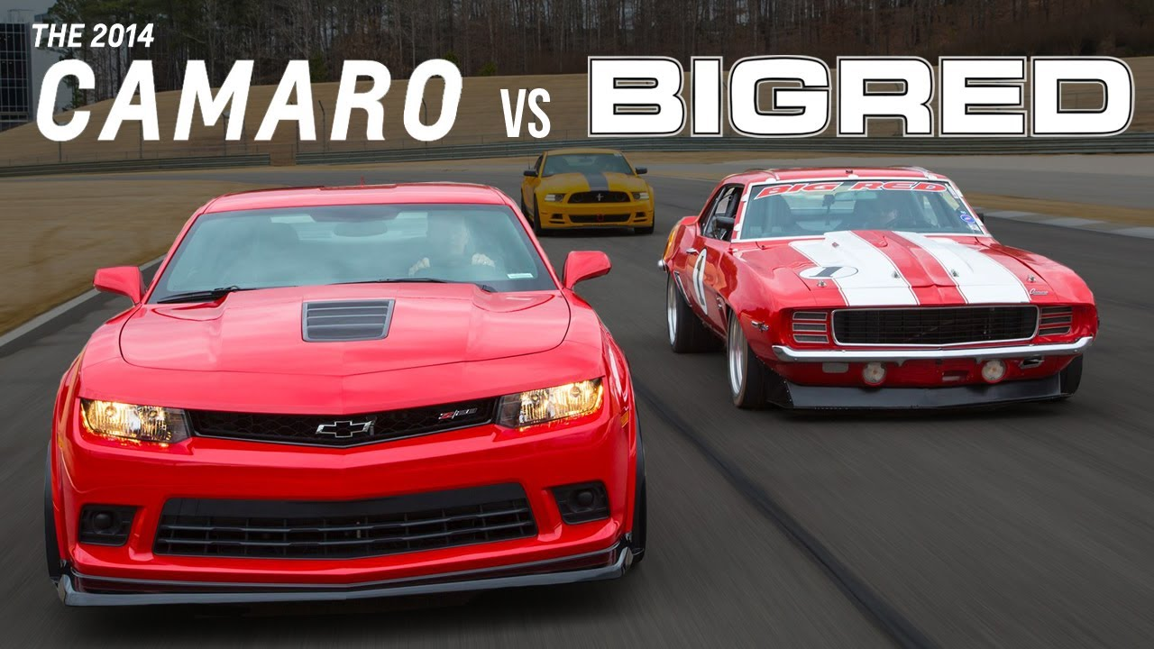Big Red Camaro vs. 2014 Chevrolet Camaro Z/28 - YouTube