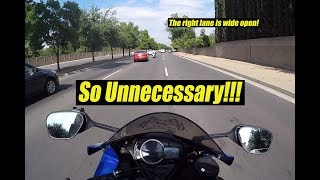 Road Rage Driver Tailgates Motorcyclist | Importance of Zipper Checks | Bad Fresno Drivers