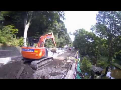 A646 Falling Royd Flood Recovery Works Timelapse | Hebden Bridge