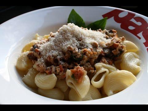 pâtes-veau-champignons-mozzarella-🍝🇮🇹