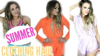Summer Clothing Haul + Try On! | MissHollyXo