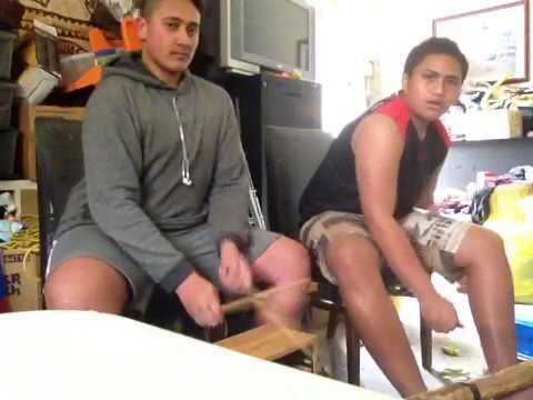 Cook island drum beats on cupboards
