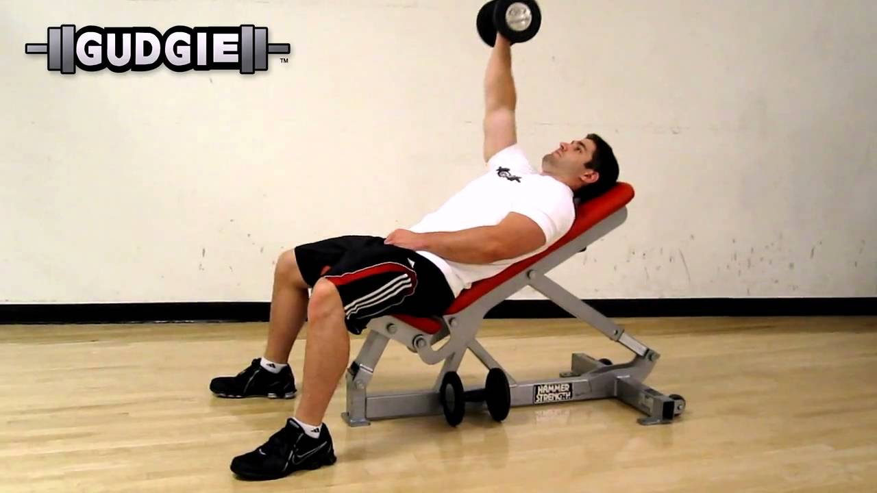 Iso-lateral Dumbbell Incline Bench Press Part - 50: Dumbbell Incline Bench Press Single Side, Isolated
