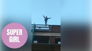 Adrenaline junkie scaled eight-storey car park with no safety equipment and dubbed 'Spider Girl'