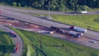 Crash spills cocoa on highway near Chicago