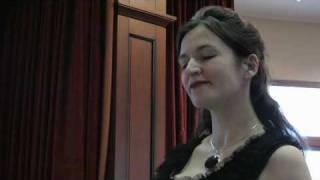 """Alma Mahler   """" Laue Sommernacht """"  gesungen von Lucie Ceralova; mezzosprano"""