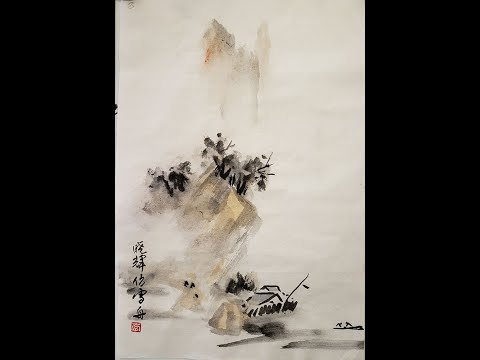 CLASSICAL CHINESE LANDSCAPE PAINTING ZOOM CLASSES Lesson 10 Sesshu