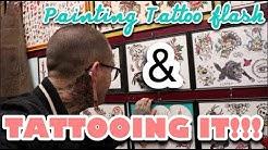 PAINTING TATTOO FLASH & TATTOOING IT!!!