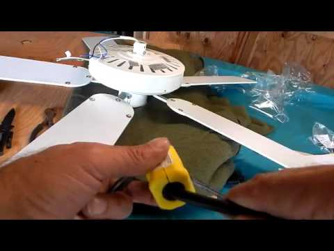 Installing An Electric Outlet Plug On A Ceiling Fan Youtube