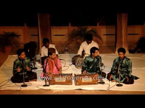 The famous Qawwali singer Yusuf Khan mesmerises his audience