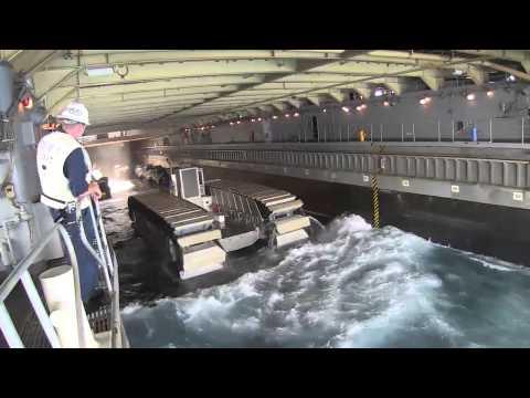 UHAC ship to shore and USS Rushmore b-roll during RIMPAC 2014