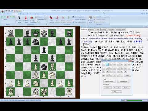 ChessBase 11 -- annotating games using the Symbol palette