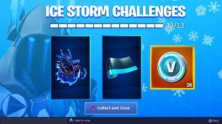 *NEW* ALL ICE STORM CHALLENGES UNLOCKED! (Fortnite: Free Rewards)