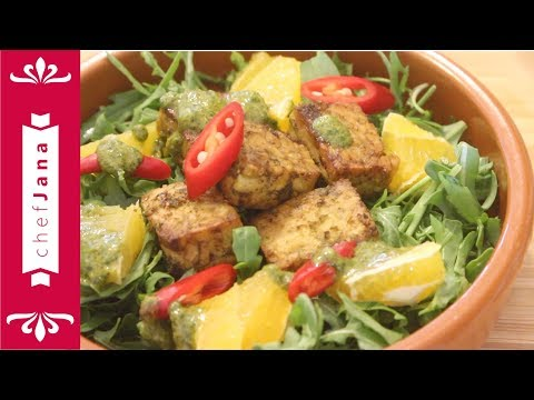 Make the perfect tempeh: Marinated tempeh in Moroccan Chermoula sauce